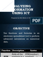 Analyzing Information Using ICT-EPP 6