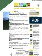Revista Ecosistemas_Areas Protegidas Como Observatorios Del Cambio Global