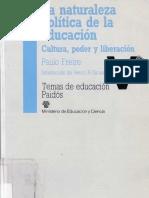 FREIRE. La Naturaleza Politica de La Educacion 1