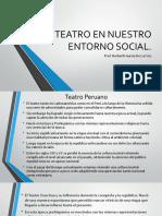 El Teatro en Nuestro Entorno Social
