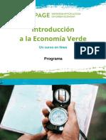 Programa Introducción a La Economía Verde