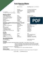 ariel neema blake resume