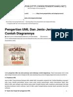Pengertian UML Dan Jenis-Jenisnya Serta Contoh Diagramnya