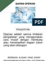persiapan operasi