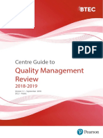 Centre Guide to Quality Management Review 2018 19 Final