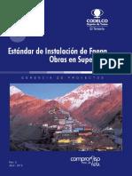 Estándar N°03 - Instalación de Faena Obras en Superficie