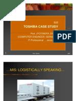 MIS.  Case study Data Warehousing.  Toshiba Logistics.