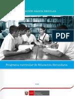 Programa Curricular Educacion Secundaria Ossenu