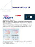 What is the Difference Between NAND and NOR Flash