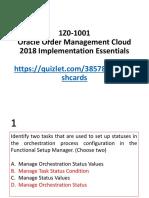 1Z0-1001 Order Management Esensial 2018