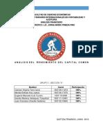 Analisis Del Rendimiento Del Capital Comun