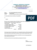 1. Surat Permohonan Blanko Sertifikat Berlogo BNSP