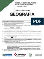 Prova de Geografia ERJ