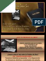 Propuestas 2011 del Instituto Bíblico Zona sur