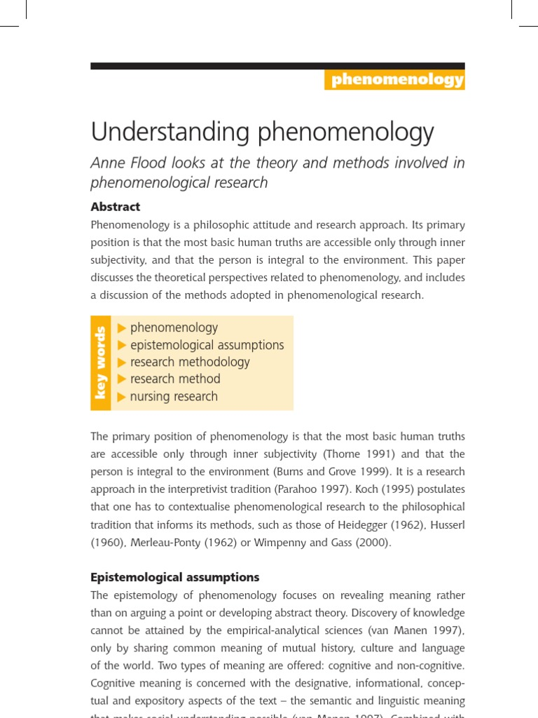 interpreting the phenomenology of husserl essay Edmund husserl research papers significance of sexuality research papers - michel foucault's work will be the primary source of the essay's phenomenology.
