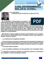 Las bases del entrenamiento Integral del fútbol