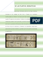 Historia de Las Plantas Aromaticas