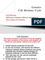 Genetics, Cell Division Ppt