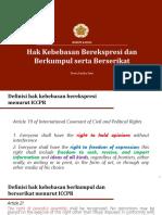 Hukum & HAM - Hak Kebebasan Berpendapat Dan Berasosiasi