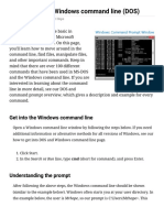 How to Use the Windows Command Line (DOS)