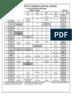 Academic. Calendar July -Dec 2019 1st Year M.tech