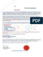Winning Notification Letter