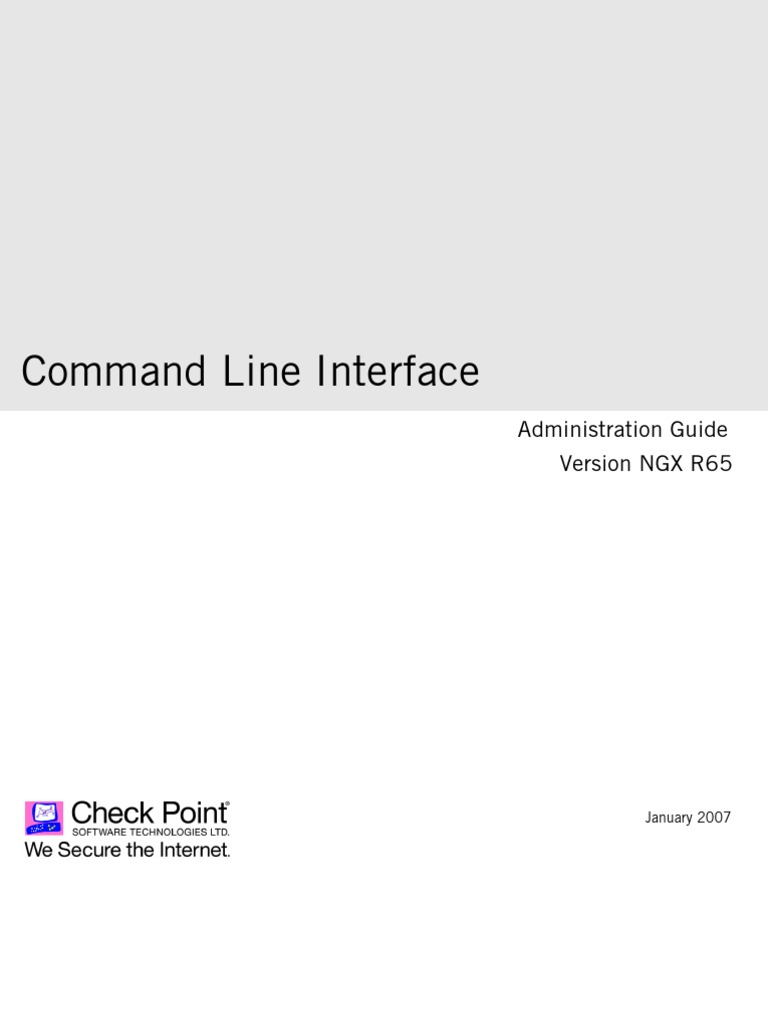 Checkpoint R65 CLI Admin Guide | Command Line Interface | Computer