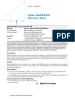 Agilent Small RNA Kit Quick Start Guide