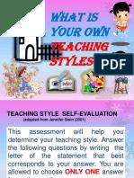 4 Teaching Styles