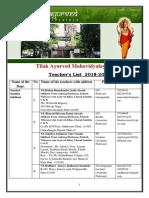 2.Details of Teaching