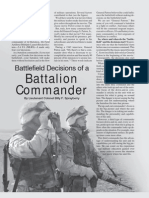 Battlefield Decisions of a Battalion Commander