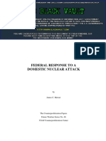 Federal Response to a Domestic Nuclear Attack (Counterproliferation Papers, Future Warfare Series, Number 46)