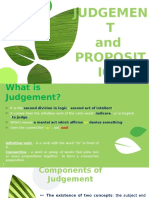 Judgement and Proposition