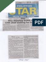 Philippine Star, July 16, 2019, Noy skipping SONA anew CHR chief waiting for invitation.pdf