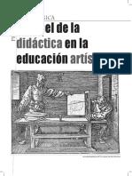 El papel de la Didáctica en la Educación Artística