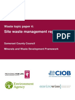 WTP4 Site Waste Management Report