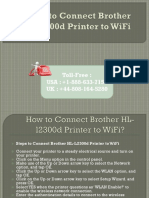 Steps to Connect Brother HL-l2300d Printer to WiFi