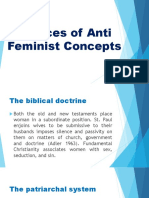 Sources of Anti Feminist Concepts - Jan2's Report