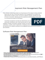 Software Development Risk Management Plan With Examples