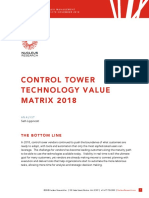 s178 Control Tower Technology Value Matrix 2018