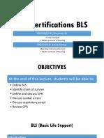 CPR Certification BLS (FUNDAMENTALS OF NURSING)