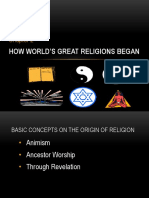 How World's Great Religions Began