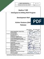 BADHRA-7 DIR Geological & Drilling Well Program