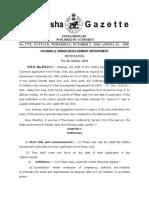 Odisha Development Authorities (Common Application Form) Rules, 2016