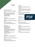 A Thousand Years Lyrics