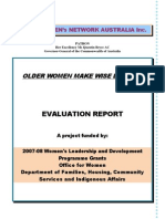 Older Women Make Wise Leaders Evaluation Report