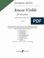 Thomas Ades - Darknesse Visible