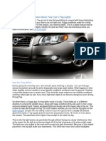 Things You Should Know About Your Cars Fog Lights
