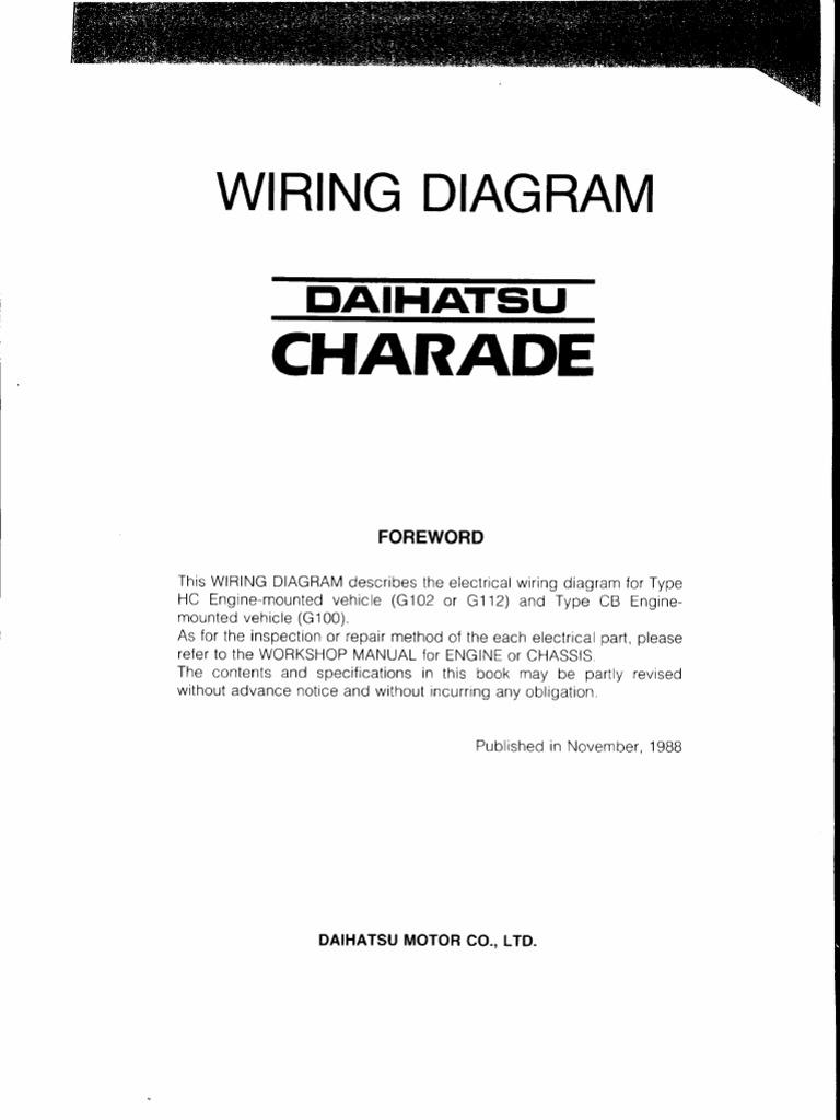 Daihatsu Feroza Wiring Diagram - Wiring Diagrams on