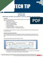Repeating Content IN BI Report Layouts